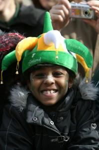 A boy in a costume