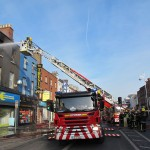 Firefighters tackle the Camden Street blaze