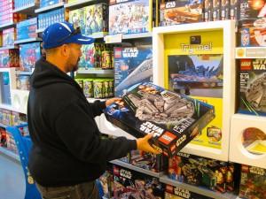Customer in shop