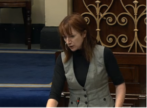Clare Daly speaks against budget in Dail yda
