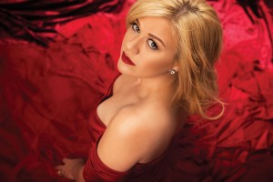 One of the pictures taken from the photo shoot for Kelly Clarkson's seventh studio album 'Wrapped in Red'