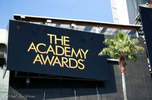 An Academy Awards billboard in Hollywood