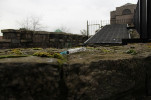 A stray syringe found at St Audeons