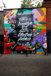 Rabbit Hole Promotions street art, Camden Row.