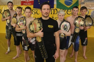 MMA SBG Ireland showcase their belts. Source: Straight Blast Gym Ireland
