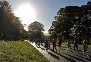 28 October 2013; A general view of competitors in action during the Airtricity Dublin Marathon 2013. Upper Glen Road, Phoenix Park, Dublin. Picture credit: Barry Cregg / SPORTSFILE *** NO REPRODUCTION FEE ***