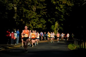 28 October 2013; Participents make their way down the Upper Glen Road during the Airtricity Dublin Marathon 2013. Phoenix Park, Dublin. Picture credit: Barry Cregg / SPORTSFILE *** NO REPRODUCTION FEE ***