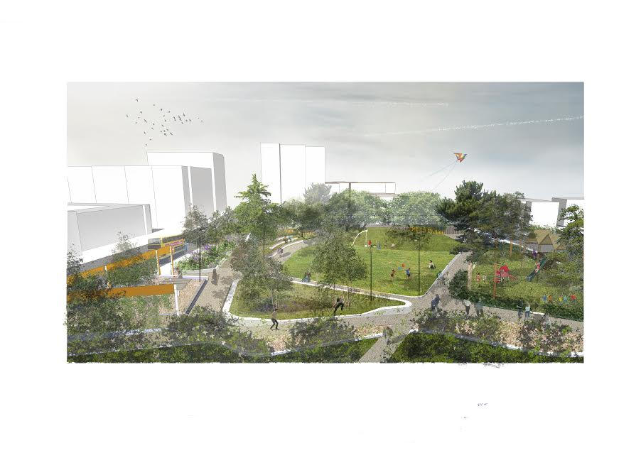 An artist's sketch of the new park