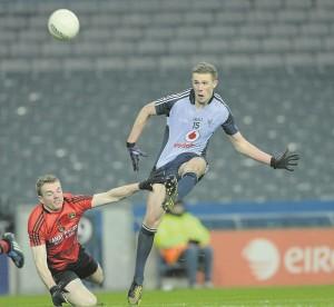 Dublin's Paul Mannion in action against Down's Brendan McArdle
