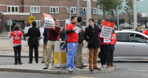 NCHD protest at James Hospital. Photo: Shauna Irwin