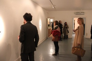 Art fans in Cross Gallery