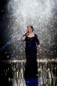Susan Boyle performing in the final of Britain's Got Talent in 2008. She was runner up to dance group Diversity.