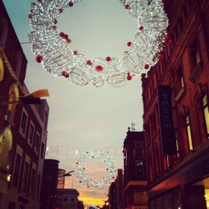 Dublin's Henry Street is looking festive as it gets ready for the big shopping season. Photo courtesy of Hilary Pidgeon