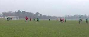 Liberties FC in action against Drumfinn Celtic. Photo: Ben Finnegan