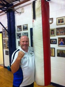 Michael Carruth at Drimnagh Boxing Club, where he's been a member for over 30 years