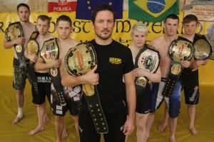 MMA SBG Ireland showcase their belts. Source: Straight Blast Gym Ireland