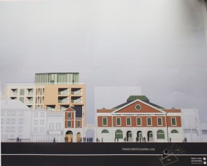 Iveagh Market architect elevation drawing