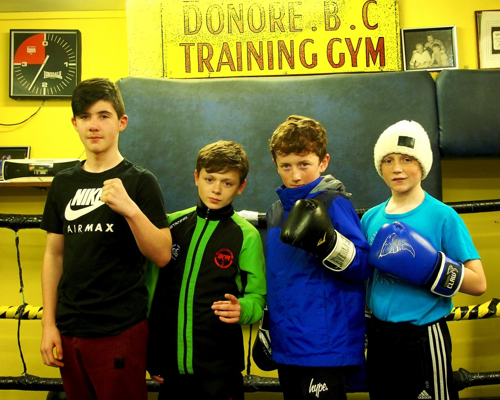 (L-R Sean Roche Leinster Champion & Dublin League Champions Christopher McEvoy, Nicky Yo Yo Hatton & Mark McEvoy)